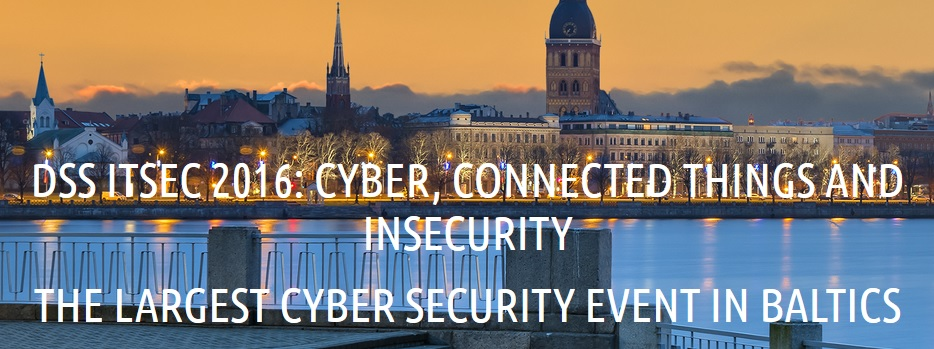 WISER at DSS ITSEC 2016: the Baltic's largest annual security conference & exhibition